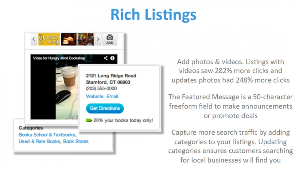 Rich Listings Get More Clicks and Search Traffic Driven by Keyword Optimized Listing Categories