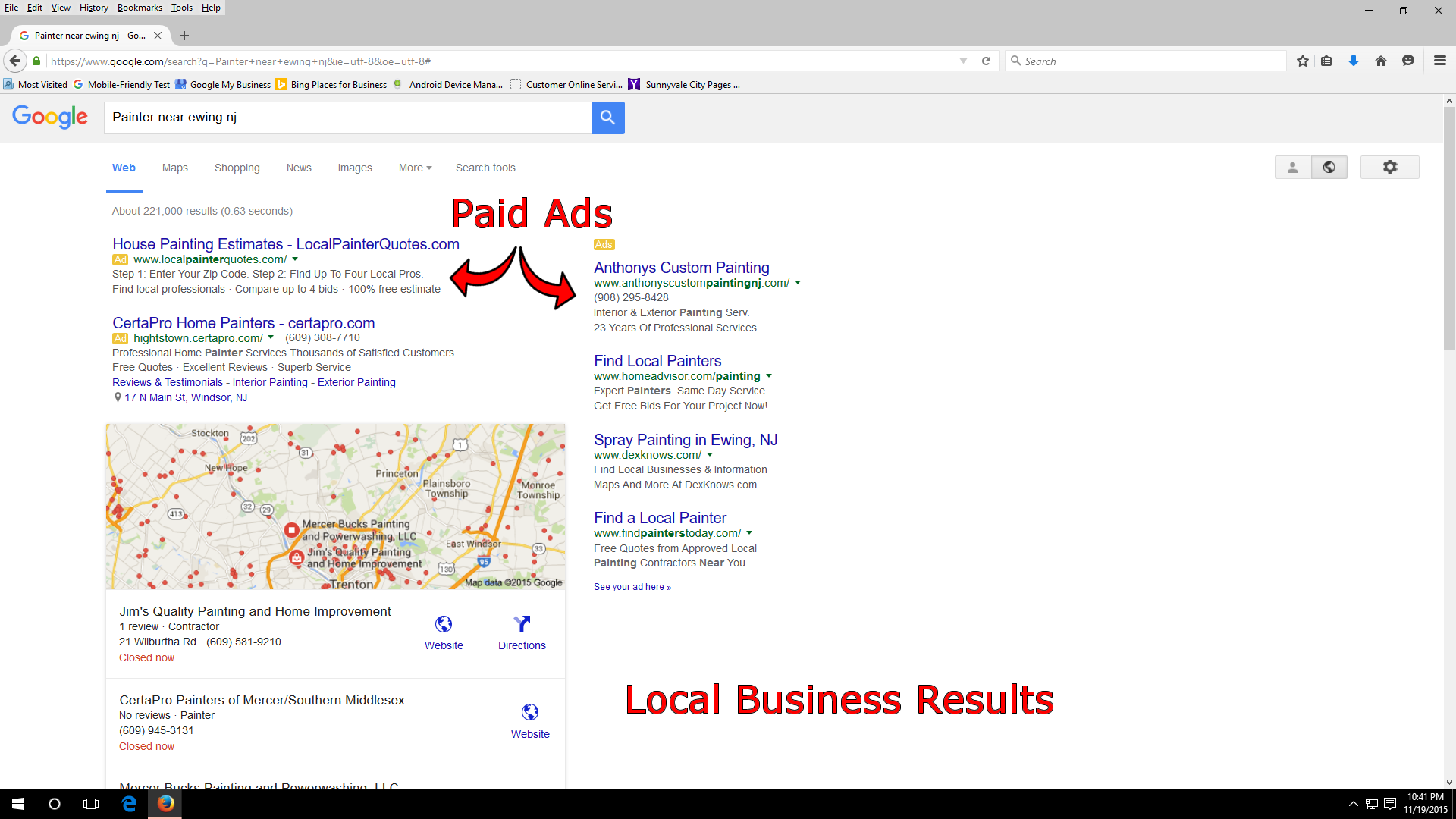 Local Search Example web.fw